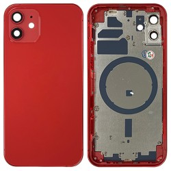 iPhone 12 - Back Housing Cover with Buttons Red