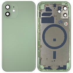 iPhone 12 - Back Housing Cover with Buttons Green
