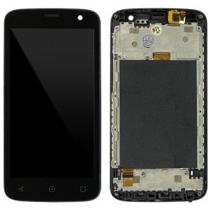 Altice S20 / S21 / StarNaute 4 - Full Front LCD Digitizer with Frame Gray Original Used Grade A