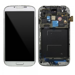 "Samsung Galaxy S4 I9505 - Full Front LCD Digitizer With Frame White   ""Service Pack"""