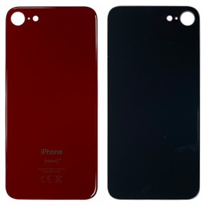 iPhone 8 - Battery Cover with Big Camera Hole Red