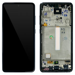 Samsung Galaxy A52 A525 / A52 5G A526 - Full Front LCD Digitizer With Frame Awesome Black < Service Pack >