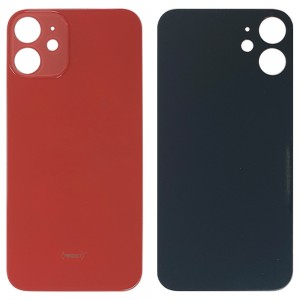 iPhone 12 Mini - Battery Cover with Big Camera Hole Red