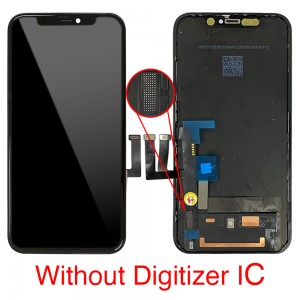 iPhone 11 - Full Front LCD Digitizer without Touch IC Black ( Original Remaded )