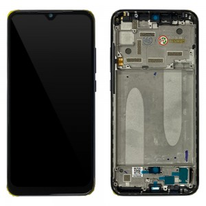 Xiaomi Mi A3 - Full Front LCD Digitizer with Frame Kind of Gray < Service Pack >