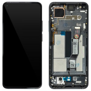 Xiaomi Mi 10T 5G / Mi 10T Pro 5G - Full Front LCD Digitizer with Frame Cosmic Black < Service Pack >