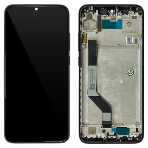 Xiaomi Redmi Note 7 / Note 7 Pro - Full Front LCD Digitizer with Frame Black < Service Pack >