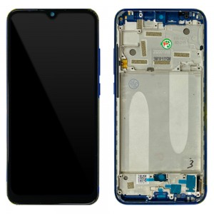 Xiaomi Mi A3 - Full Front LCD Digitizer with Frame Not just Blue < Service Pack >