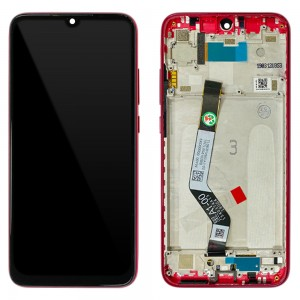 Xiaomi Redmi Note 7 / Note 7 Pro - Full Front LCD Digitizer with Frame Nebula Red < Service Pack >