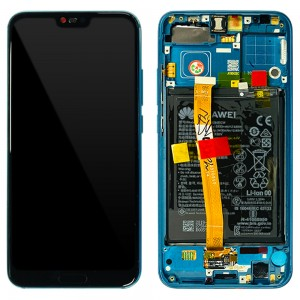Huawei Honor 10 - Full Front Lcd Digitizer Phantom Green With Frame & Battery < Service Pack >