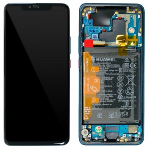 Huawei Mate 20 Pro - Full Front LCD Digitizer Emerald Green With Frame & Battery < Service Pack >