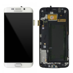 Samsung Galaxy S6 Edge G925 - Full Front LCD Digitiizer White With Frame