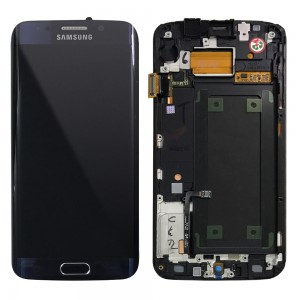 Samsung Galaxy S6 Edge G925 - Full Front LCD Digitizer Black With Frame