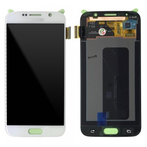 Samsung Galaxy S6 G920F - Full Front LCD Digitizer White < Service Pack >