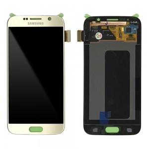 Samsung Galaxy S6 G920F - Full front LCD Digitizer Gold < Service Pack >