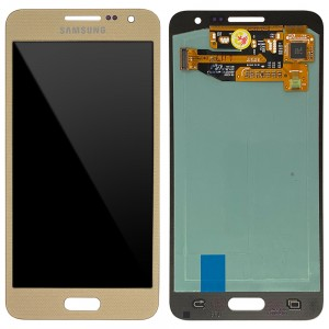 Samsung Galaxy A3 A300- LCD Touch Screen Dourado