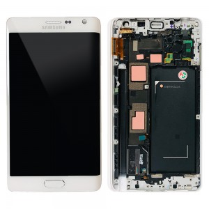 Samsung Galaxy Note Edge SM-N915 - Full Front LCD Digitizer With Frame White