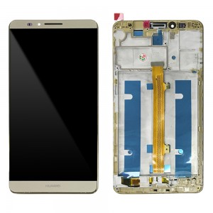 Huawei Ascend Mate 7 - Full Front LCD Digitizer With Frame Gold