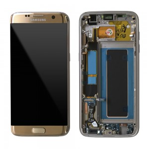 Samsung Galaxy S7 Edge G935F - Full front LCD Digitizer Gold with Frame