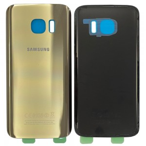 Samsung Galaxy S7 G930F - Battery Cover Gold with Adhesive