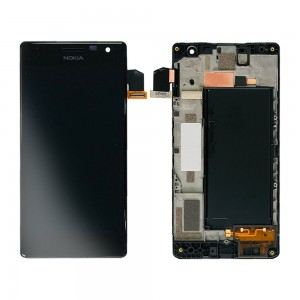 Nokia Lumia 730 / 735 - Full Front LCD Digitizer with Frame Black