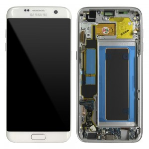 Samsung Galaxy S7 Edge G935F - Full front LCD Digitizer White with Frame