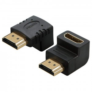 90 Degree HDMI Male to HDMI Female Connector adapter