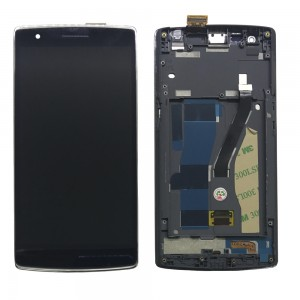 OnePlus One - Full Front LCD Digitizer With Frame Black