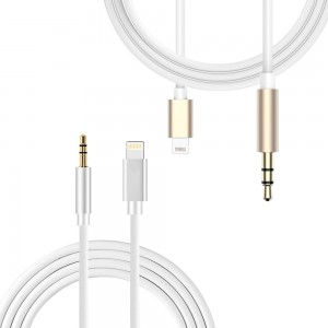 Lightning 8 pin to 3.5mm Male Adapter Audio