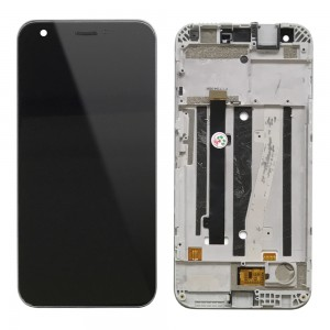ZTE Blade A512 - Full Front LCD Digitizer Black with Frame
