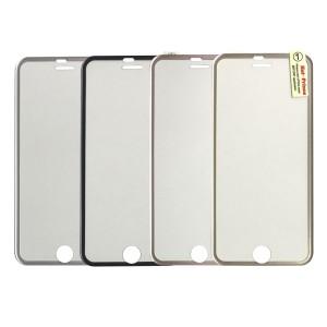 iPhone 7 / 8 - 3D Full Arc Covered Tempered Glass Aluminium Edge Series