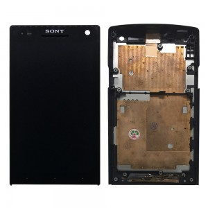 Sony Xperia S LT26 LT26i - Full Front LCD Digitizer With Frame Black