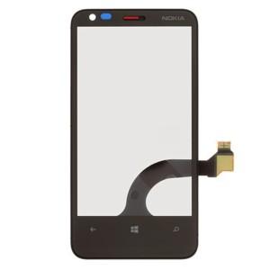 Nokia Lumia 620 MLA A - Front Glass Digitizer With Frame Black