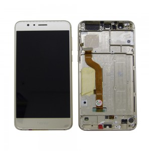 Huawei Honor 8 - Full Front LCD Digitizer with Frame Gold