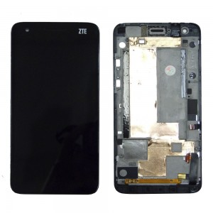 ZTE S Flex - Full Front LCD Digitizer with Frame Black