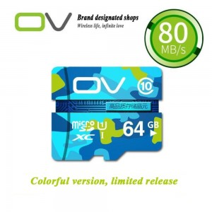 OV Camouflage Edition 64GB 80MB/S High Speed Class 10 Micro SD Memory Card