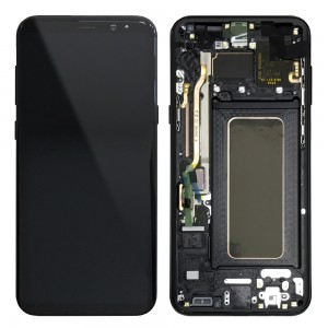 Samsung Galaxy S8 Plus G955F - Full front LCD Digitizer With Frame Black < Service Pack >