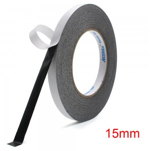 15mm x 50m Double-sided Black Adhesive Sticker Tape