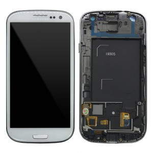 Samsung Galaxy S3 I9305 - Full Front LCD Digitizer With Frame White ( Refurbished )