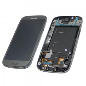 Samsung Galaxy S3 I9300 - Full front LCD Digitizer With Frame Grey ( Refurbished )