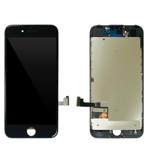 iPhone 7 - LCD Digitizer Black with Plates EBS