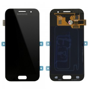"Samsung Galaxy A3 2017 A320 - Full Front LCD Digitizer Black "" Service Pack """
