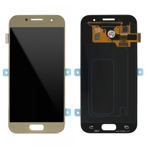 "Samsung Galaxy A3 2017 A320 - Full Front LCD Digitizer Gold "" Service Pack """