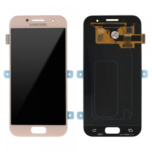 "Samsung Galaxy A3 2017 A320 - Full Front LCD Digitizer Pink "" Service Pack """