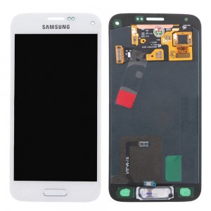 Samsung Galaxy S5 Mini G800F - Full Front LCD Digitizer White < Service Pack >