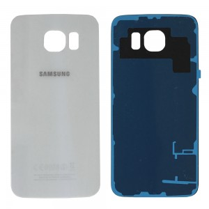 Samsung Galaxy S6 G920 - Battery Cover White with Adhesive