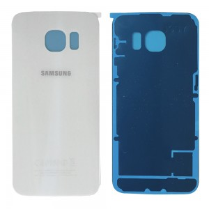 Samsung Galaxy S6 Edge G925 - Battery Cover White with Adhesive