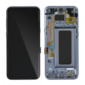 Samsung Galaxy S8 Plus G955F - Full front LCD Digitizer With Frame Blue < Service Pack >
