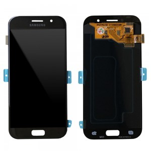 "Samsung Galaxy A5 2017 A520 - Full Front LCD Digitizer Black "" Service Pack """