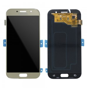 """Samsung Galaxy A5 2017 A520 - Full Front LCD Digitizer Gold """" Service Pack """""""